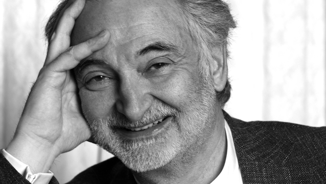 Jacques Attali black and white photograph