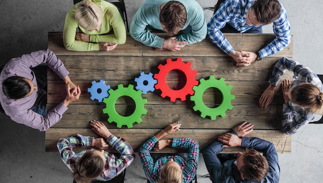 Business,People,With,Colorful,Cogs,Of,Business,,Problem,Sloution,Concept